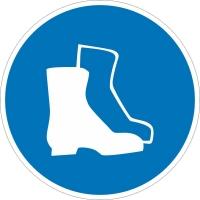 Работать в защитной обуви (200х200 мм) самоклеющ.