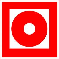 Кнопка включения установок (систем) пожарной автоматики (200х200 мм) самоклеющ.