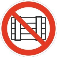 Запрещается загромождать проходы и (или) складировать (200х200 мм) самоклеющ.