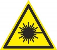Опасно. Лазерное излучение (200х200 мм) самоклеющ.