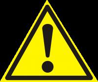 Внимание. Опасность (прочие опасности) (200х200 мм) самоклеющ.