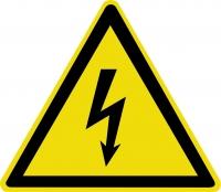Опасность поражения электрическим током (200х200 мм) самоклеющ.