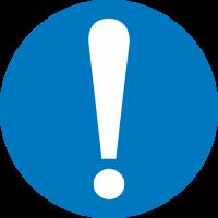 Общий предписывающий знак (прочие предписания) (200х200 мм) самоклеющ.