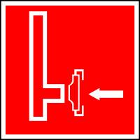 Пожарный сухотрубный стояк (200х200 мм) самоклеющ.