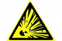 Взрывоопасно (200х200 мм) самоклеющ.