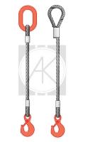 1СК - стропы канатные одноветвевые (ВК - ветвь канатная)