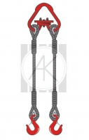 2СК - стропы канатные двухветвевые
